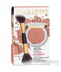 Collistar Silk Effect Maxi Blusher Terracotta + 3 Pennelo Double