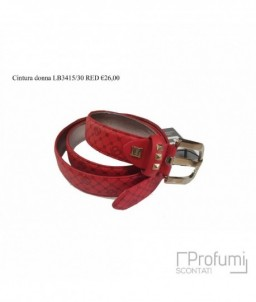Red Belt Leather Woman Laura Biagiotti